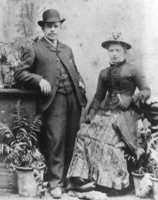 Fred & Maria Jones of 30 Pant Street, Pantygog - Wedding day 1887