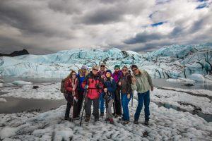 Group Photo at The Matanuska Glacier 2016