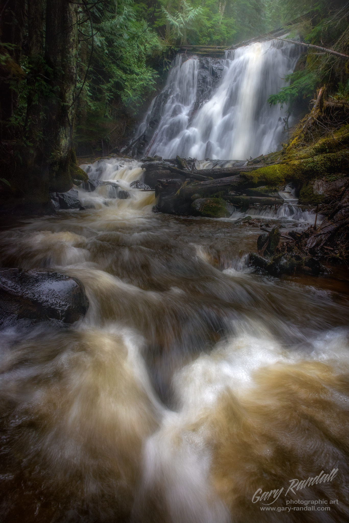 Yocum Falls near Mount Hood Oregon