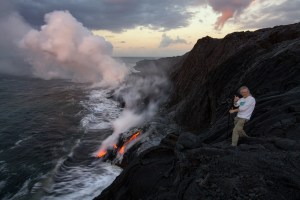 Gary Randall at Kalapana Hawaii