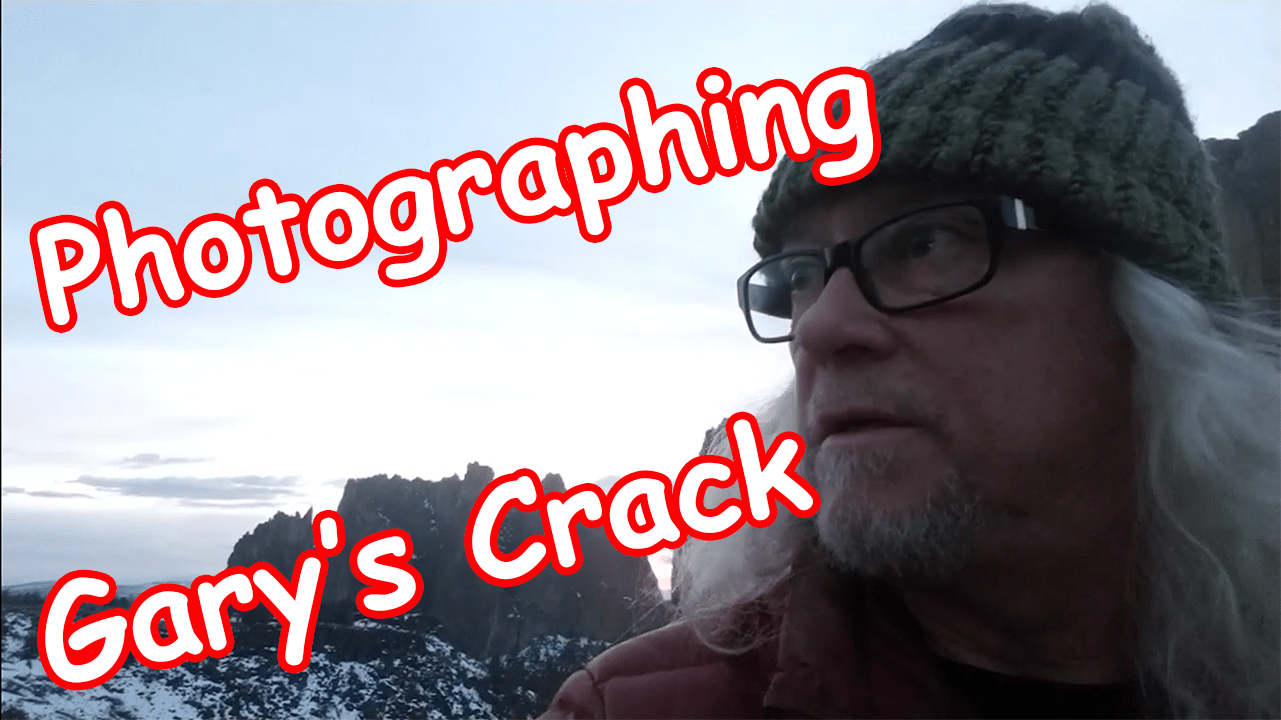 Photographing Gary's Crack