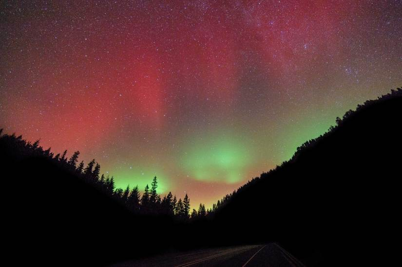 Aurora near Hood River Oregon
