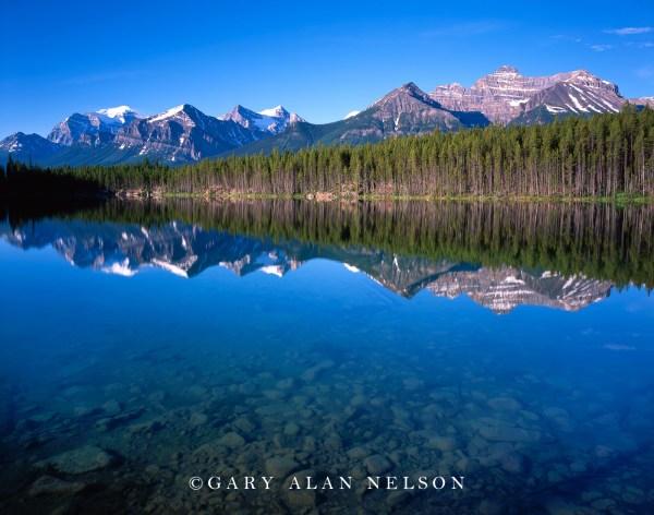 Herbert Lake And Bow Range Banff National Park