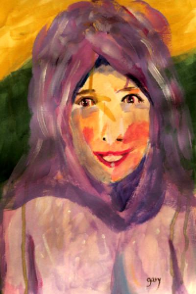 Egyptian Woman, acrylics, 11.5*16.5', 30*42 cm acrylics on