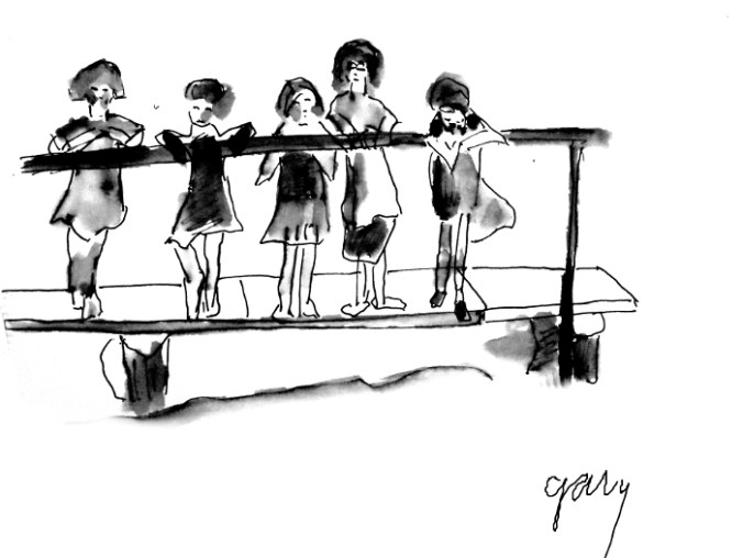 Girls on a Dock