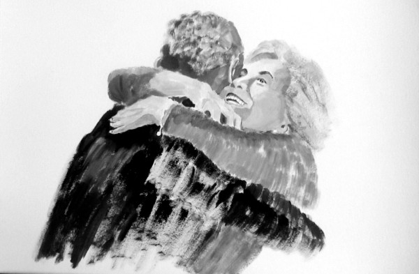 A Historic Moment: Hillary Clinton and Barack Obama Embrace