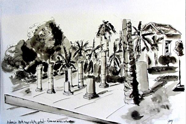 Parque Cultural II, Valencia Roman era columns and capitals