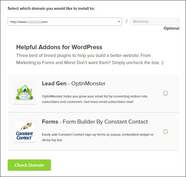 Choose WordPress Directory