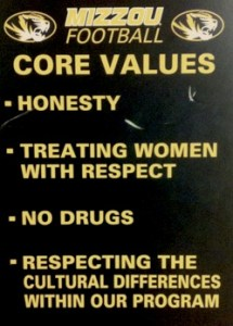 Mizzou Football Core Values