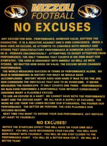Mizzou Football No Excuses