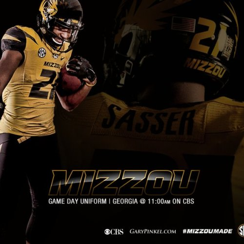 Mizzou Football Nike Uniform Combination October 11