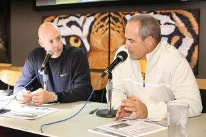 Gary Pinkel and Mike Kelly at Tiger Talk November 2014