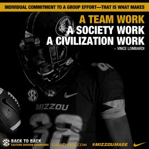 Make a Difference Team First Mizzou Football