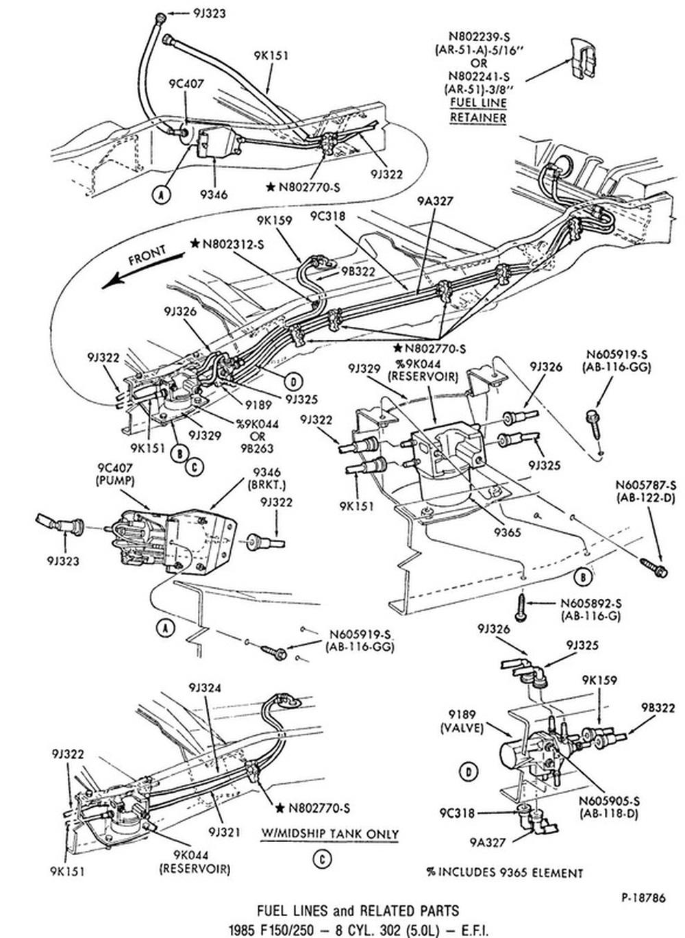 [DIAGRAM] 1995 F150 302 Fuel System Diagram FULL Version