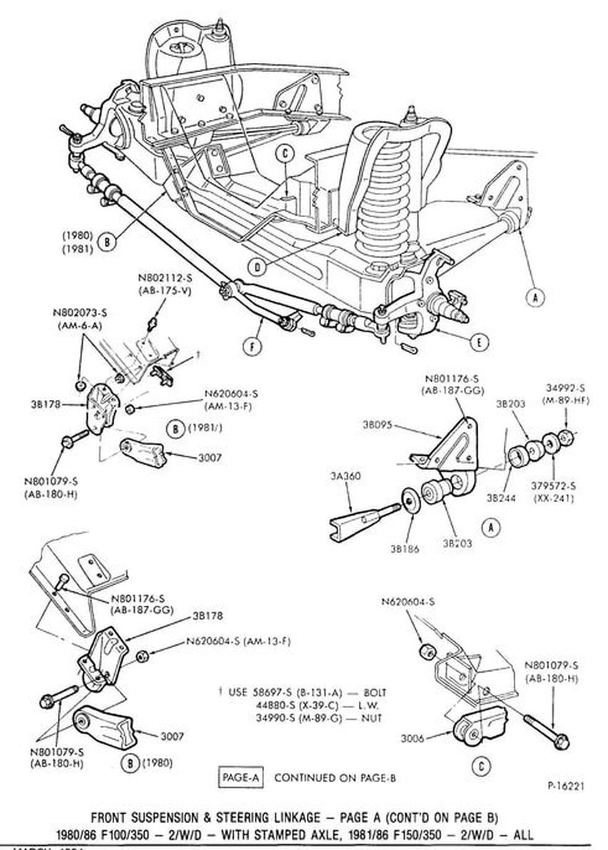 medium resolution of front suspension gary s garagemahal the bullnose bible 85 f150 suspension diagram