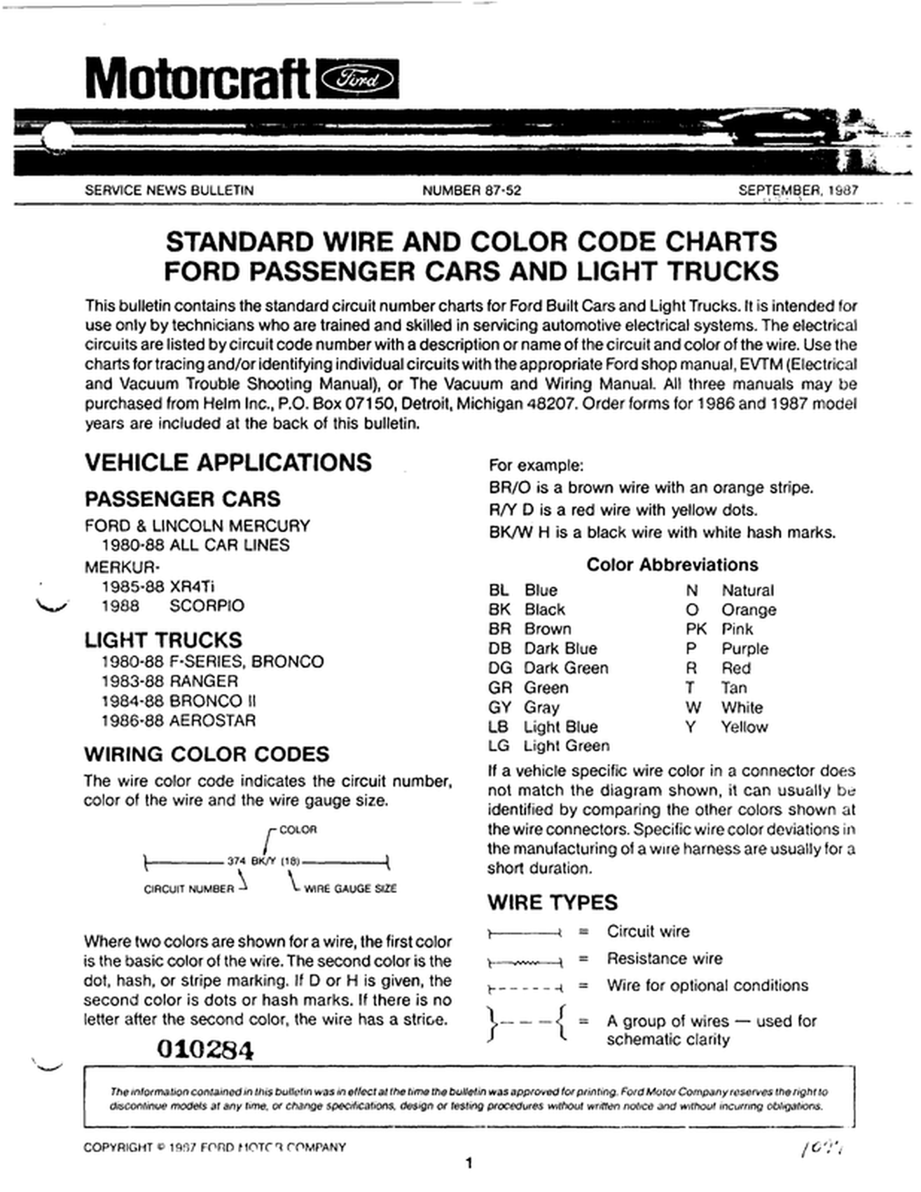 ford wiring color code book diagram schema ford truck wiring harness kits on nissan 300zx wiring color code [ 1315 x 1702 Pixel ]