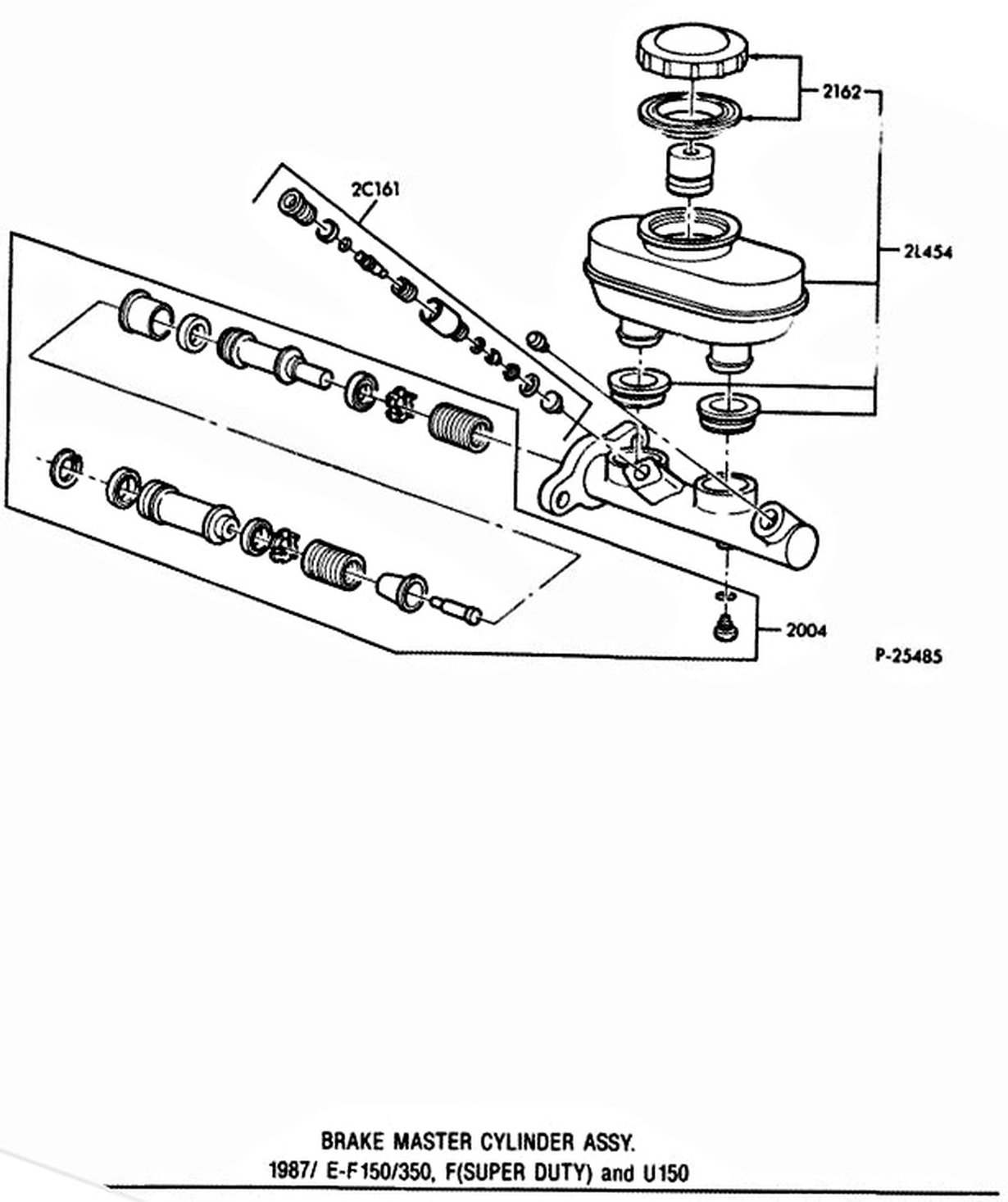 medium resolution of the push rod has an adjustment screw to maintain the correct relationship between the booster control valve plunger and the master cylinder piston