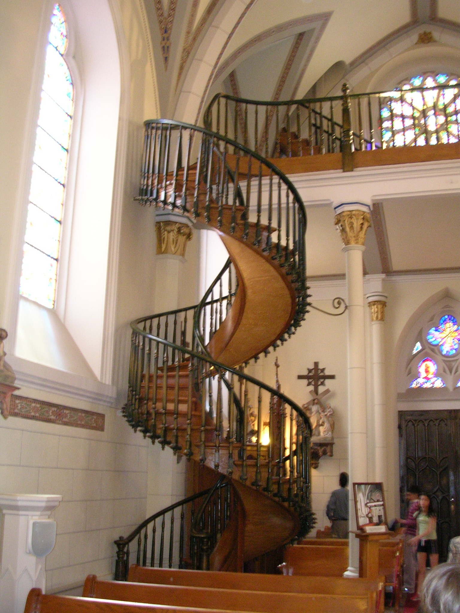 Loretto Chapel Staircase Travels With Gary   Loretto Chapel Staircase Wood   Free Standing   St Joseph   Nm Church Santa Fe   Light   Sister