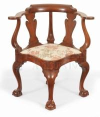 Chippendale walnut corner chair, (New York, NY) - Clocks ...