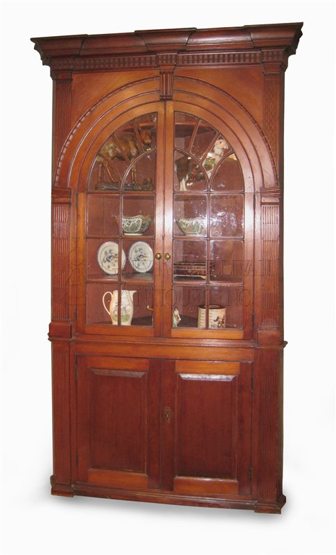 Chippendale carved cupboard circa 176080  Clocks 13001