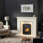 Faro marble fireplace with urban grey detailing and gas fire