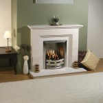 Alpine limestone fireplace