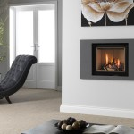Ethos 550 gas fire landscape grey trim