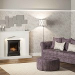 Cast stove front gas fire in Verdana marble surround