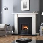 Legend Ethos 400 gas fire with black trim