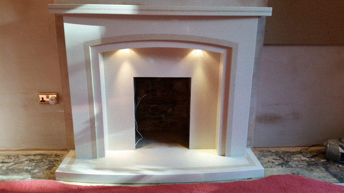 Kingston micro marble fireplace