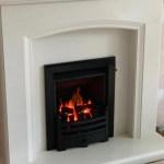 Eliana micro-marble fireplace with a Legend gas fire