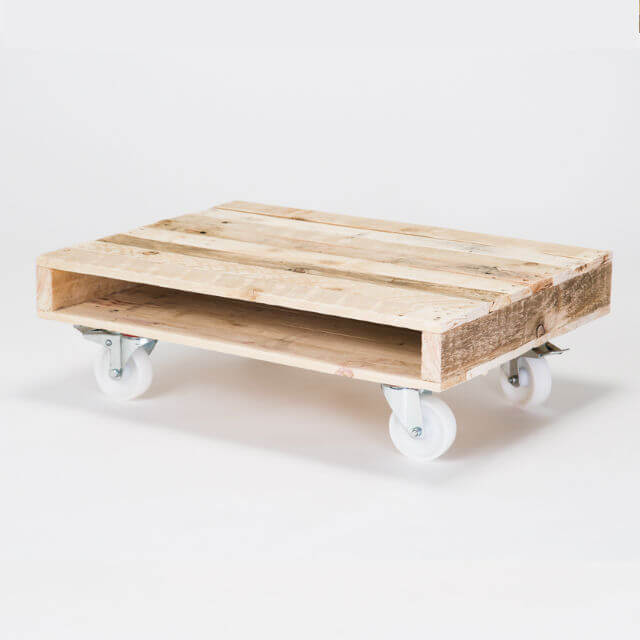 'On Wheels' Small Coffee Table