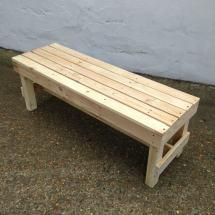 'squared' Wooden Bench Pallet Furniture