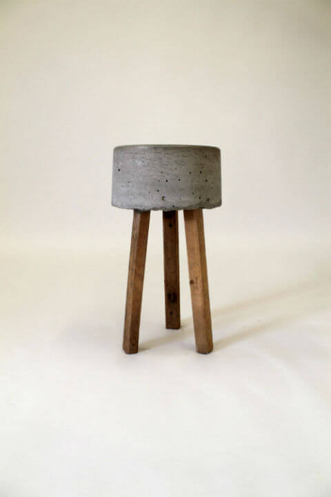 folding bar stool chairs wholesale kids 'earth' concrete & timber | pallet furniture