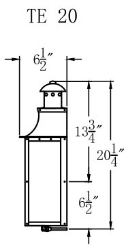 The CopperSmith Terra Flush Mount Gas and Electric Lantern