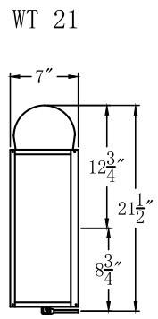 The CopperSmith Whitney Flush MountGas or Electric Lantern