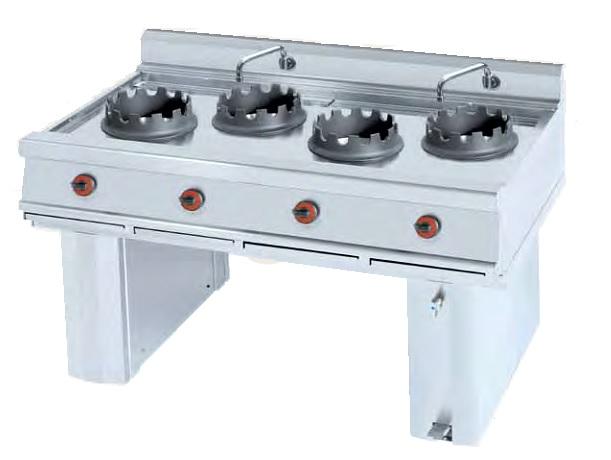 Cocina Wok a gas Eurast 3412  3 Fuegos