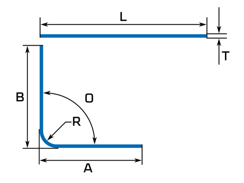 small resolution of calculate bend deduction sheet metal flat length