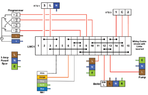Central Heating Wiring Diagrams  Drayton Controls  Biflo with LWC1 Wiring Centre  Gas Support