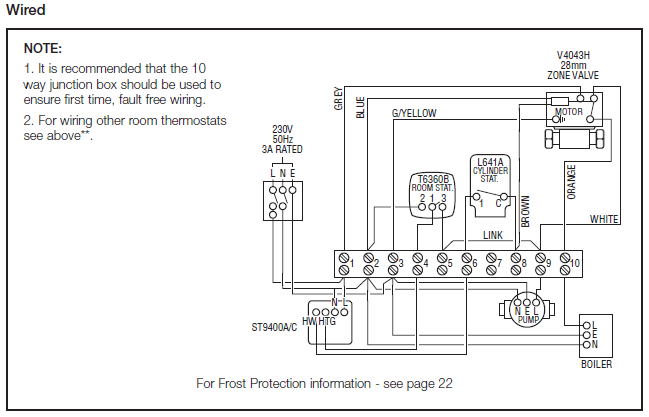 Central Heating Wiring Diagram Y Plan