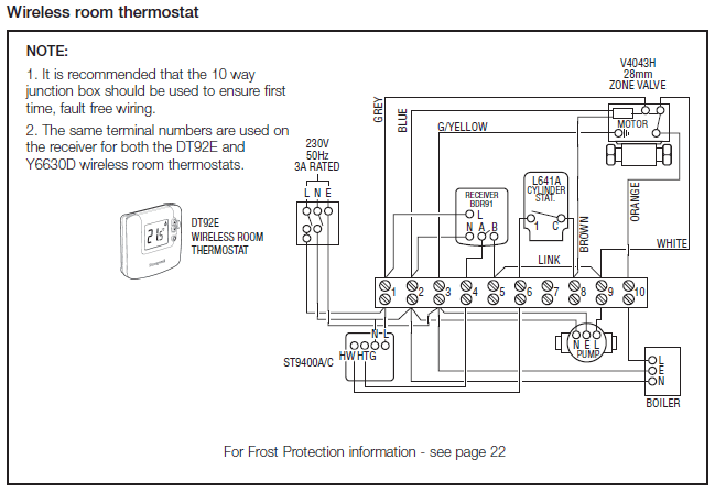 honeywell wiring centre diagram