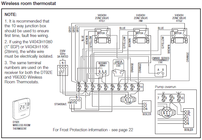 Honeywell Junction Box Wiring Diagram