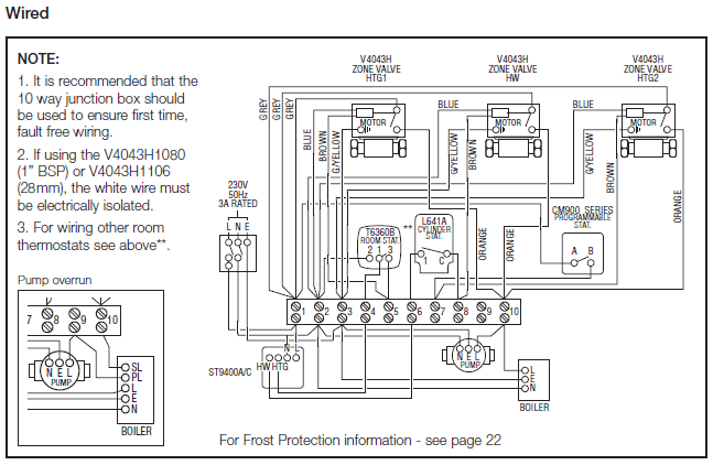 S Plan Wiring Diagram With Underfloor Heating