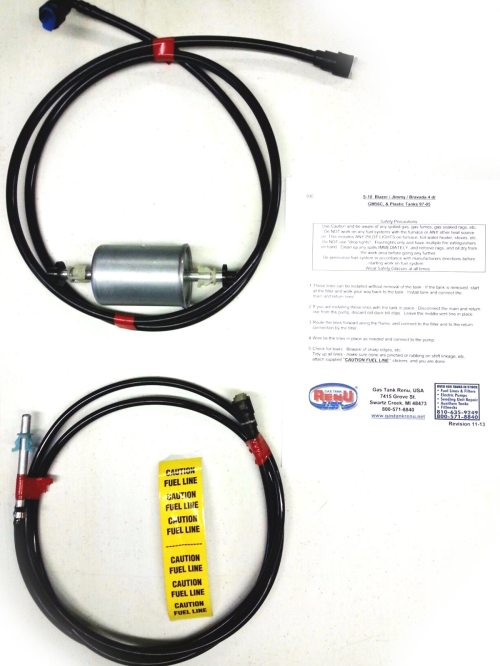small resolution of 2000 4 door s10 blazer fuel lines