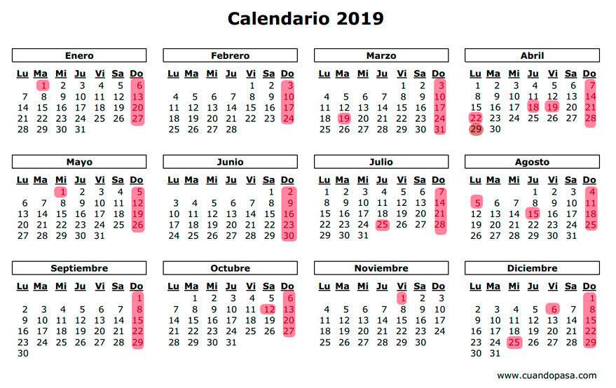 Calendario 2019 Chile Con Feriados Para Imprimir.Calendario 2018 Para Imprimir Com Feriados Officesetupcom Us