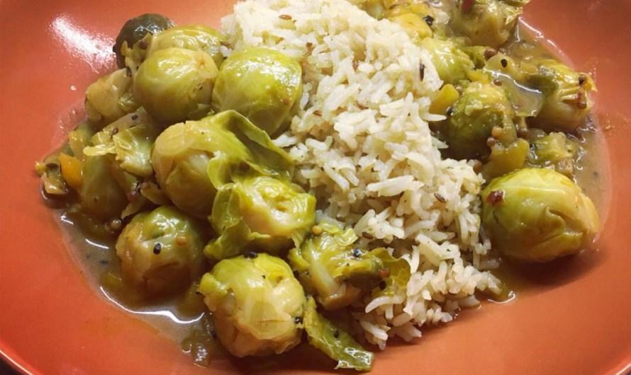Rezept: Rosenkohl-Curry mit Mango und Gewürzreis