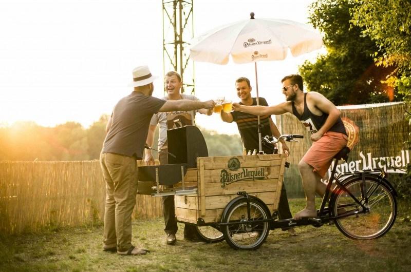 Mobiler Biergarten macht in Leipzig halt