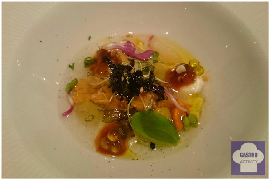 Sensaciones marinas y vegetales Restaurante Arbidel