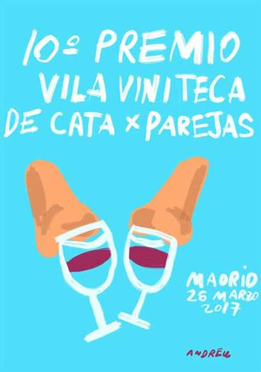 Cartel Premio Vila Viniteca de Cata por Parejas