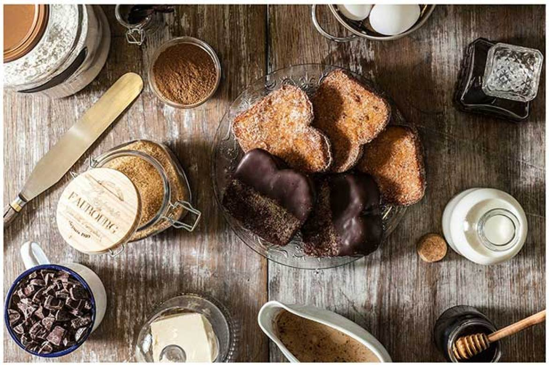Torrija de chocolate y torrija de vainilla bourbon Mama Framboise